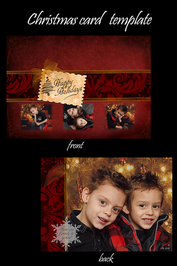 Christmas Card Template by Suri-Chi