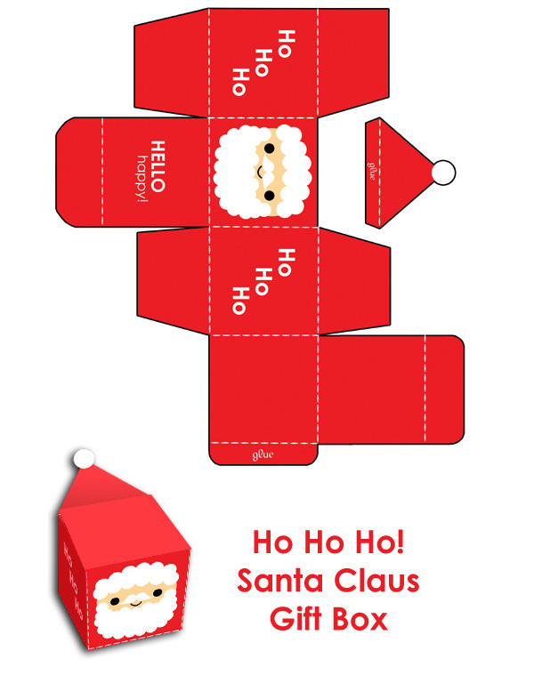 Merry Christmas Santa Gift Box by hellohappycrafts
