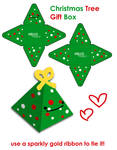 Merry Christmas Tree Gift Box