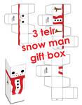 Merry Xmas Snowman Gift Box