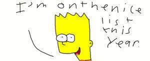 Bart Simpson on Nice List