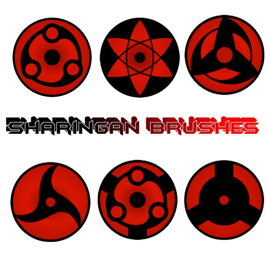 Sharingan Brushes by NiinjaStyle