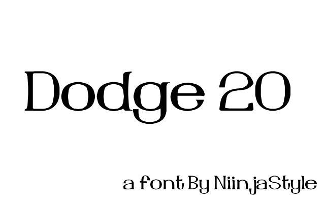 Dodge 20 font by NiinjaStyle