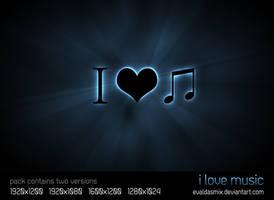 I Love Music by evaldasmix