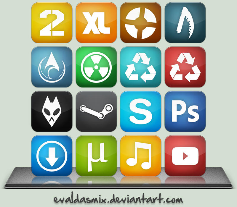 Simple dock icons by evaldasmix