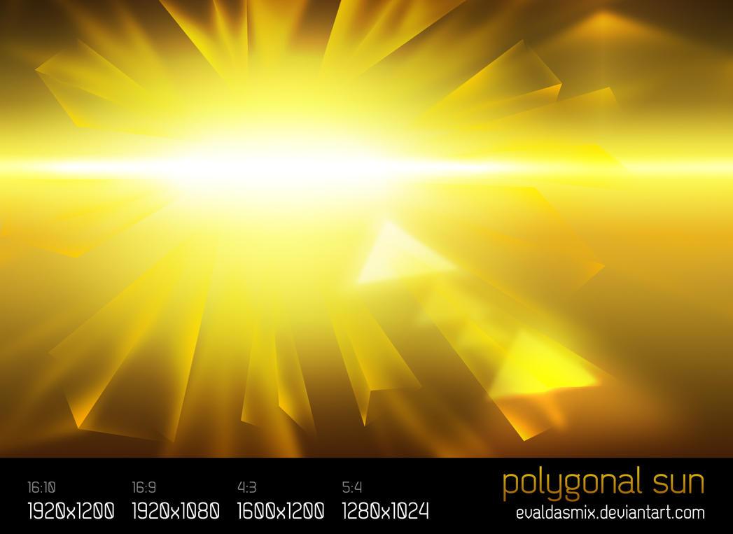 Polygonal Sun by evaldasmix