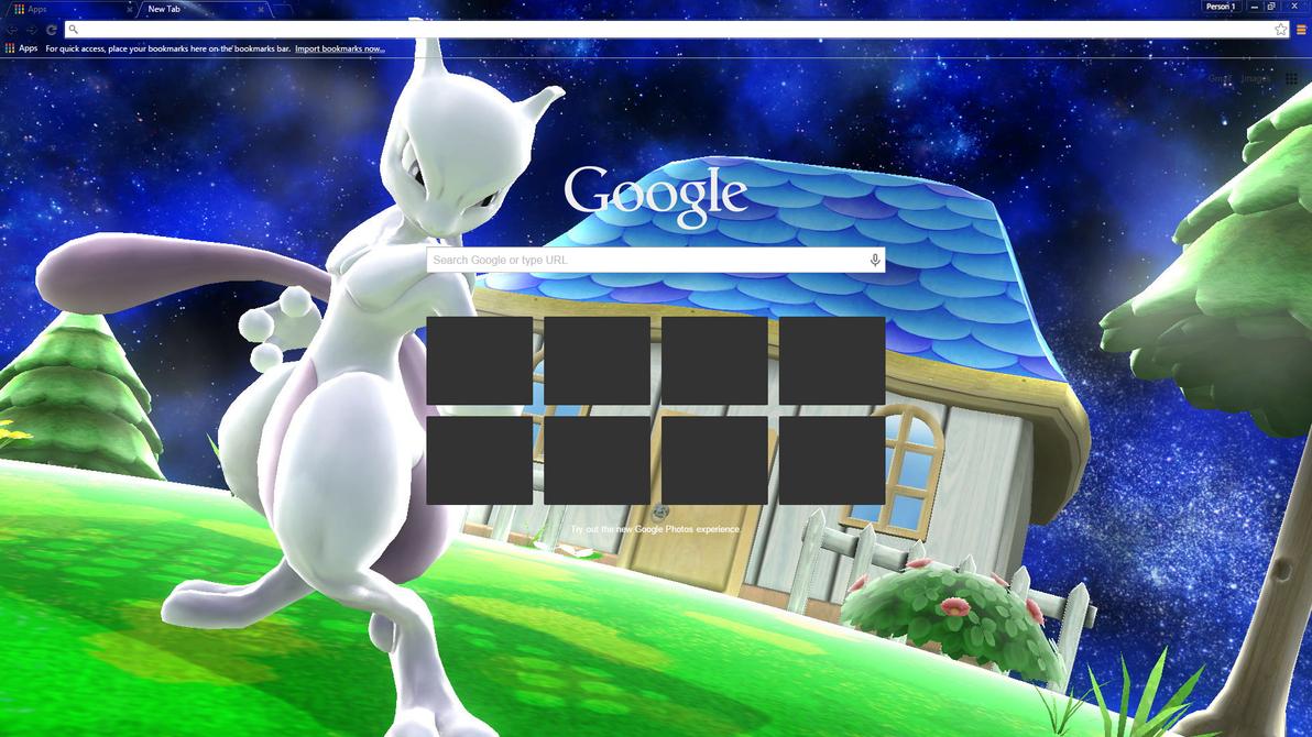 Google chrome themes universe - Ssb Mewtwo In Space Chrome Theme By Kherr
