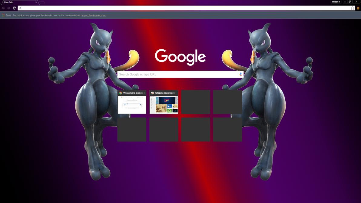 Google themes - Shadow Mewtwo Theme V5 Google Chrome By Kherr