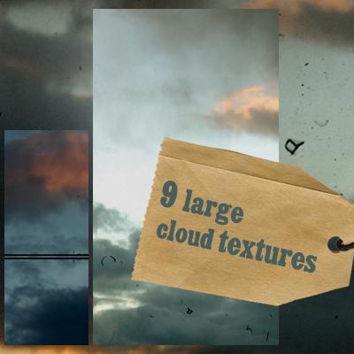 9 large cloud textures