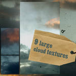 9 large cloud textures