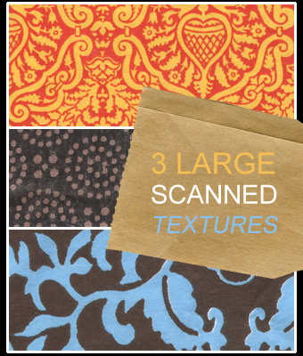3 large scanned textures