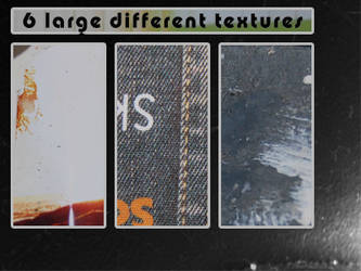 6 large different textures by Kiho-chan