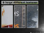 6 large different textures
