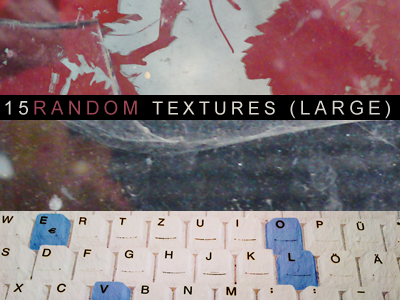 15 random textures, large by Kiho-chan