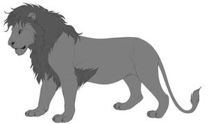 Free Lion lineart