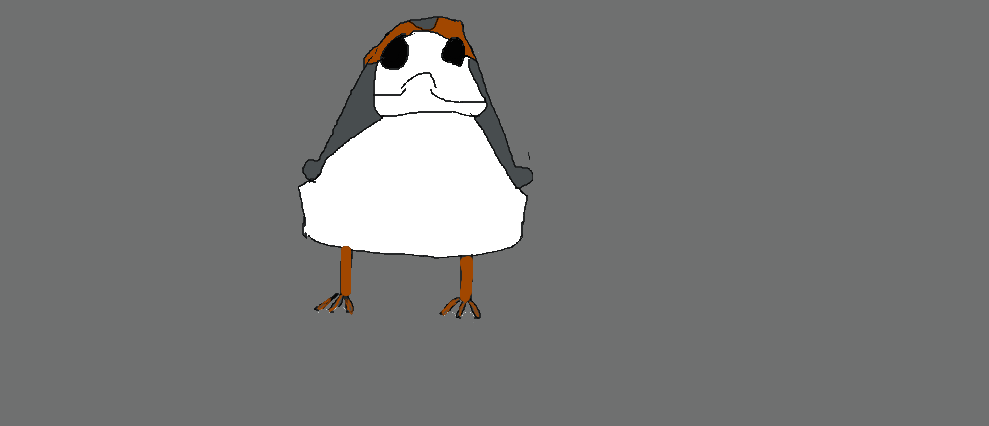 Porg Art by IsaacTriesAnimating
