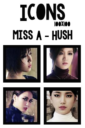 Icons: Miss A - Hush by mayradias