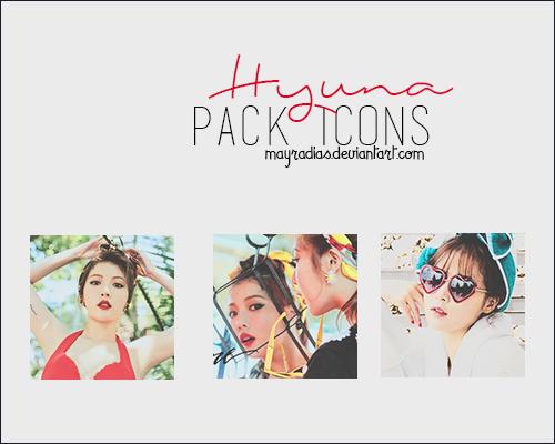 Hyuna - Icons by mayradias