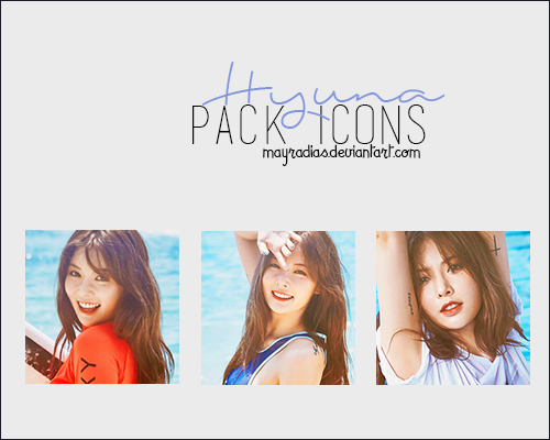 Hyuna - Icons 2 by mayradias