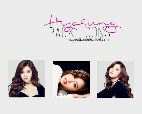HyoSung (Secret) - Icons by mayradias