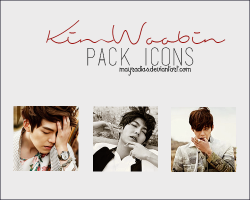 Kim Woo Bin - Icons by mayradias