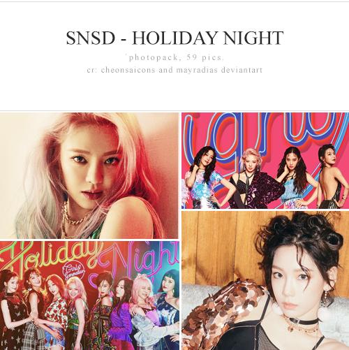 SNSD - Holiday Night Photopack by mayradias