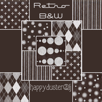 Retro BnW textures by happyduster