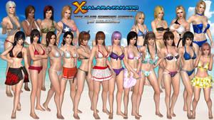 DOA5LR - Zack Island Swimwear (Women) for XNALara