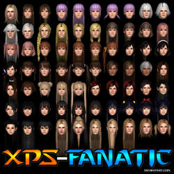DOA5LR - XPS-Fanatic's Updated Head Stash (Female) by XPS-Fanatic