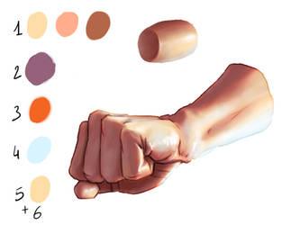 Skin shading hand