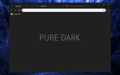 Pure Dark Chrome Theme by bkp86