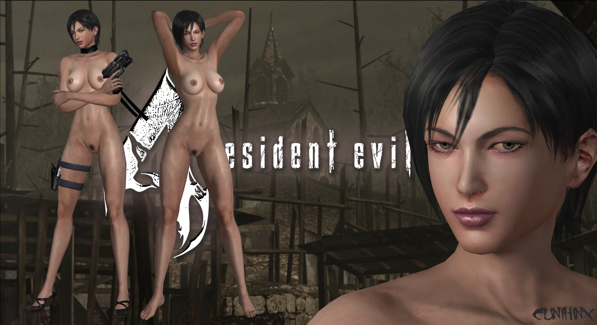 Ada Wong (Resident Evil 4) Nude Mod For XPS