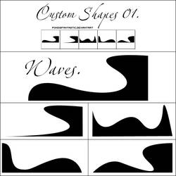 Custom Shapes O1. Waves. by devilxkitten