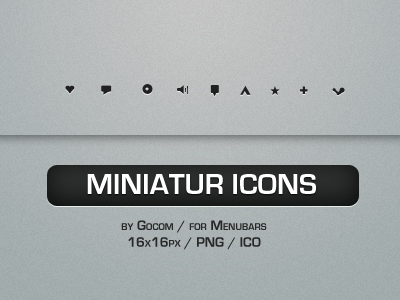 Miniatur Menubar Icons