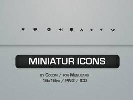 Miniatur Menubar Icons by Gocom