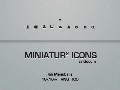 Miniatur Menubar Icons 2 by Gocom