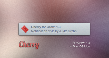 Cherry for Growl by Gocom