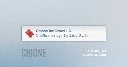 Chione for Growl