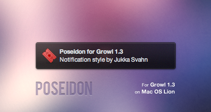 Poseidon for Growl by Gocom