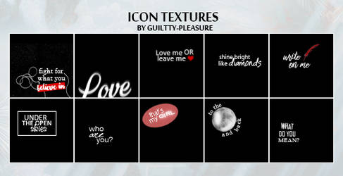 Text Icon Textures #1 by guiltty-pleasure