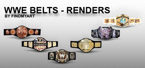 WWE BELTS - RENDERS by findmyart ...