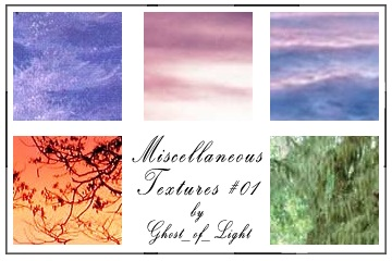 Miscellaneous Textures 01 by GhostOfLight