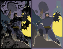 Batman by Jim Lee - Flats by TrinityMathews