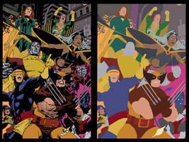 X-Men by Paulo Siqueria - BA Flats by TrinityMathews