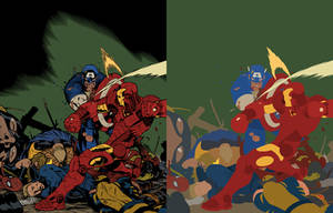 Civil War by Ed McGuiness - Flats by TrinityMathews