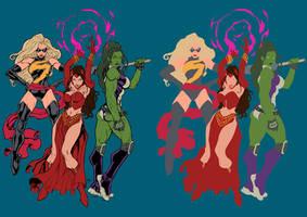 Marvel Girls - Flats by TrinityMathews