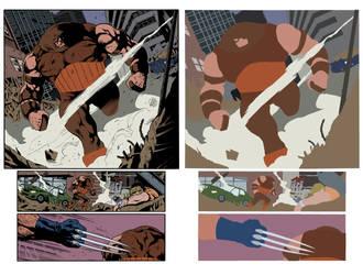 Wolverine - Sample Page 2 - Flats by TrinityMathews