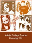 Artistic Collage Brushes by KingaBritschgi