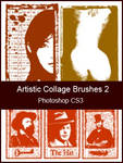 Artistic Collage Brushes 2 by KingaBritschgi