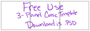 3 Panel Comic Strip Template